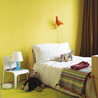 barnrum gul vägg